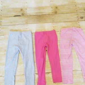 3 pairs of girls leggings